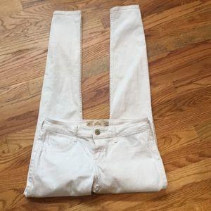 Hollister super skinny white jeans.